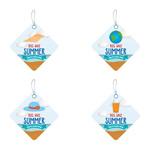 Diamond summer sale tags vector