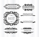 Patterned with the quality label vector
