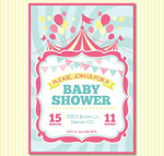 Welcome baby party invitation poster vector