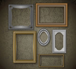 Picture frame on the wall design vector