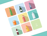 The bottle icons vector