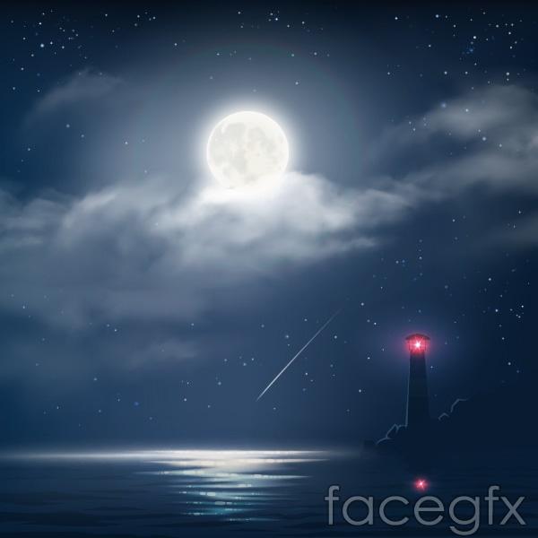 Night beacon vector