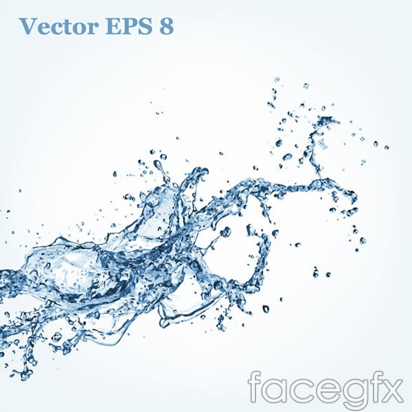 Dynamic splash water vector