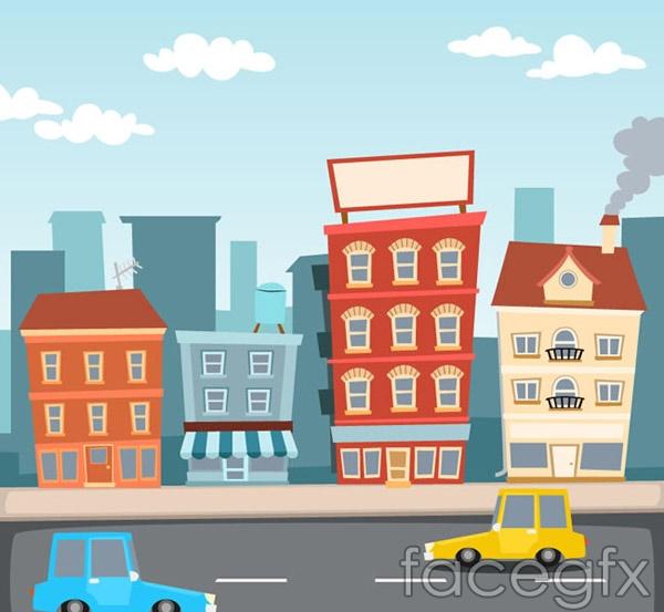 Street construction illustrations vector