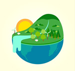 Green Earth landscapes vector