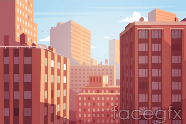 City Campus views vector