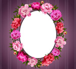 Flower oval background vector
