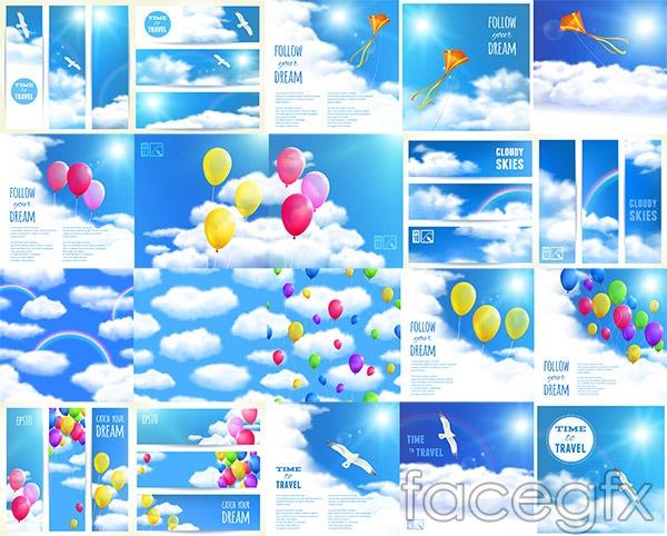 Sky balloon vector