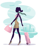 Travel beauty vector