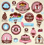 Fashion ice cream icons vector