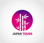Japan bamboo travel logo vector