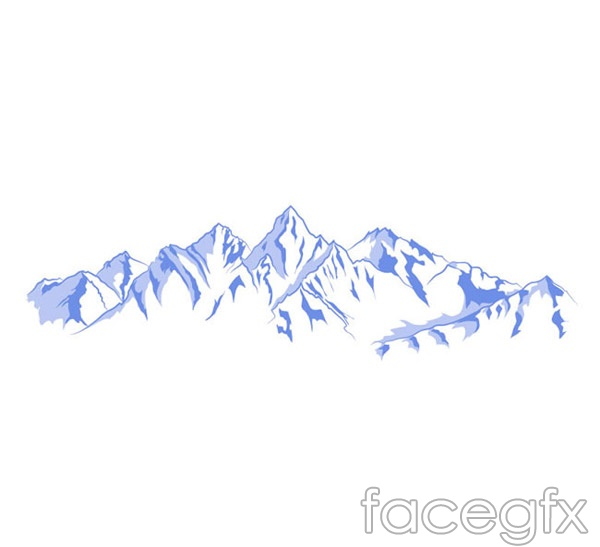 Hand painted blue snow vector