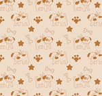Cartoon dog and bone backgrounds vector