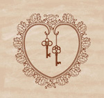 Patterns of love and keys vector
