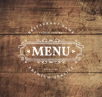 Menus on board sign vector