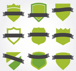 The Green Ribbon coat of arms vector