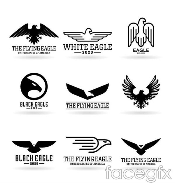 Black Eagle logo vector   Free download