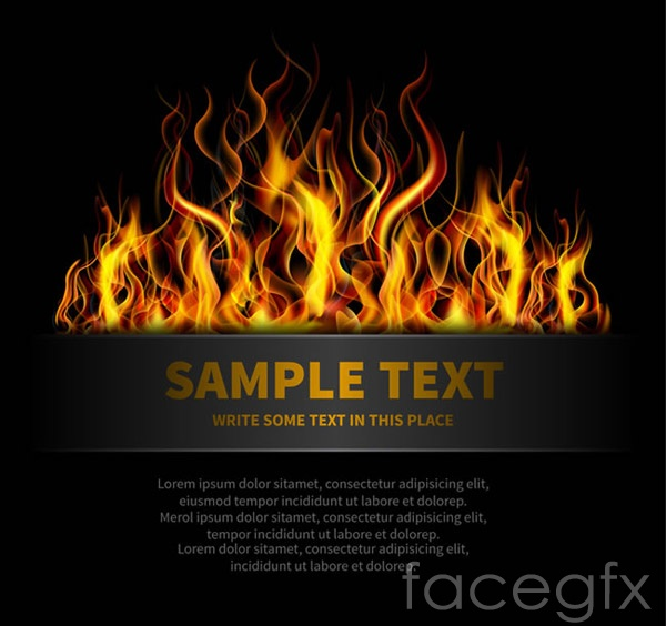 Flame banner vector