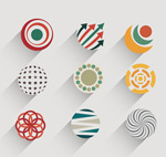 Creative circle-shaped icon vector