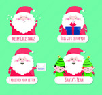 Cute Santa tag vector