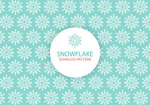 Fresh snowflakes seamless background vector