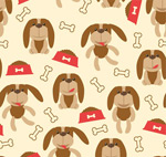 Pet dog seamless background vector