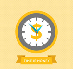 Time is money, illustration vector