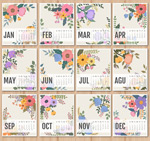 2016 calendar of patterns vector