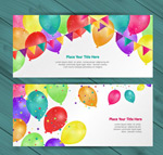 Fun balloon banner vector