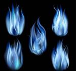 Blue fire vector