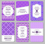 European wedding cards vector