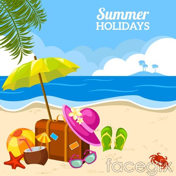 Summer vacation Beach vector