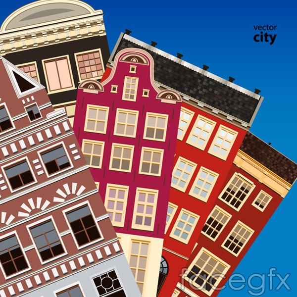 Stack city vector