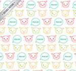 Cat Head seamless background vector