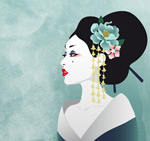 Japan Geisha character vector