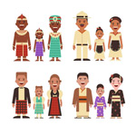 World family character vector