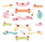 Cartoon flower Ribbon vector