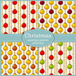 Christmas ball seamless background vector