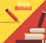 Creative books back to school flyer vector