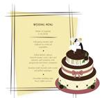 Wedding cake menu vector