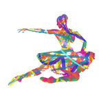 Abstract Ballet girls vector