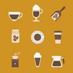 Coffee element icon vector