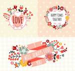 Fresh flower labels vector
