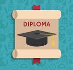 Graduate Diploma in cartoon vector