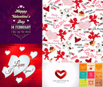 Heart-shaped seamless background vector