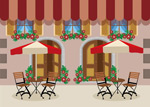Outdoor café restaurant vector