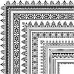 Pattern edge decorative box vector
