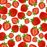 Red Strawberry seamless background vector