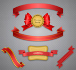 Selling ribbons and labels vector