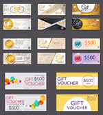 Stylish coupon card vector